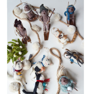 Felted-ornaments