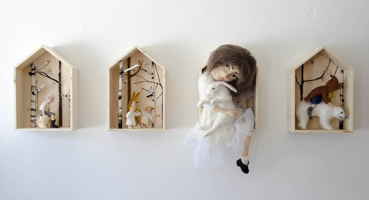 Felted Dioramas